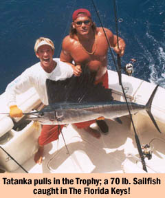 Tatanka catches 70 lb. Sailfish