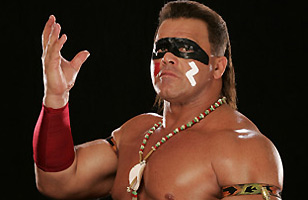 Tatanka WWE photo with Lakota War Paint