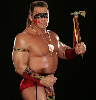 WWE Tatanka with Lakota War Paint & tomahawk