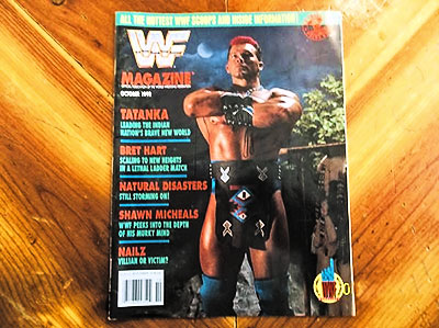 Official WWF Cover Magazine with Tatanka
