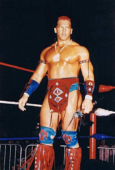 Tatanka WWE Action Shot in Ring