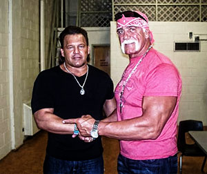 Tatanka and Hulk Hogan